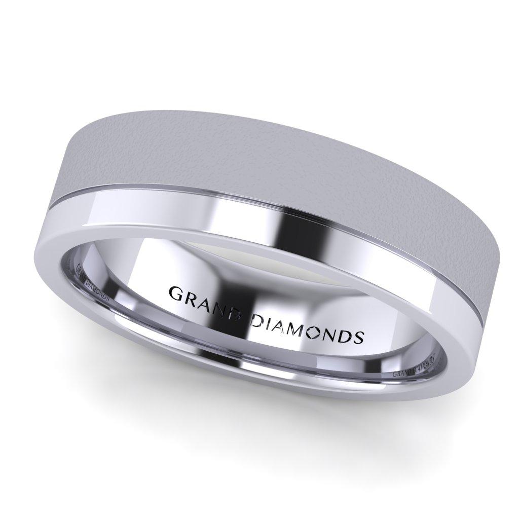 Titanium Ring Matt /& Polished Black Diamond Engagement Wedding 6mm Band