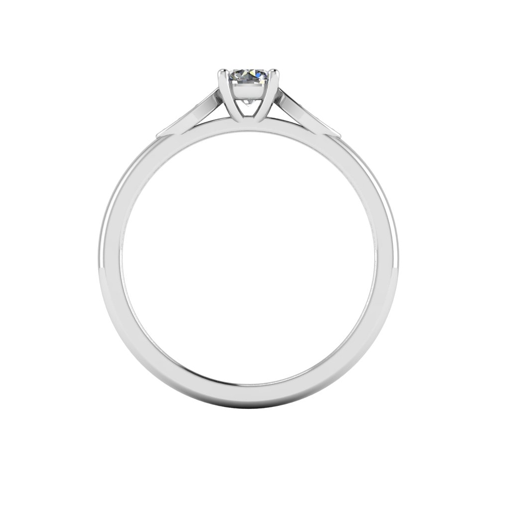0.25 4 claw pave marque ring White b