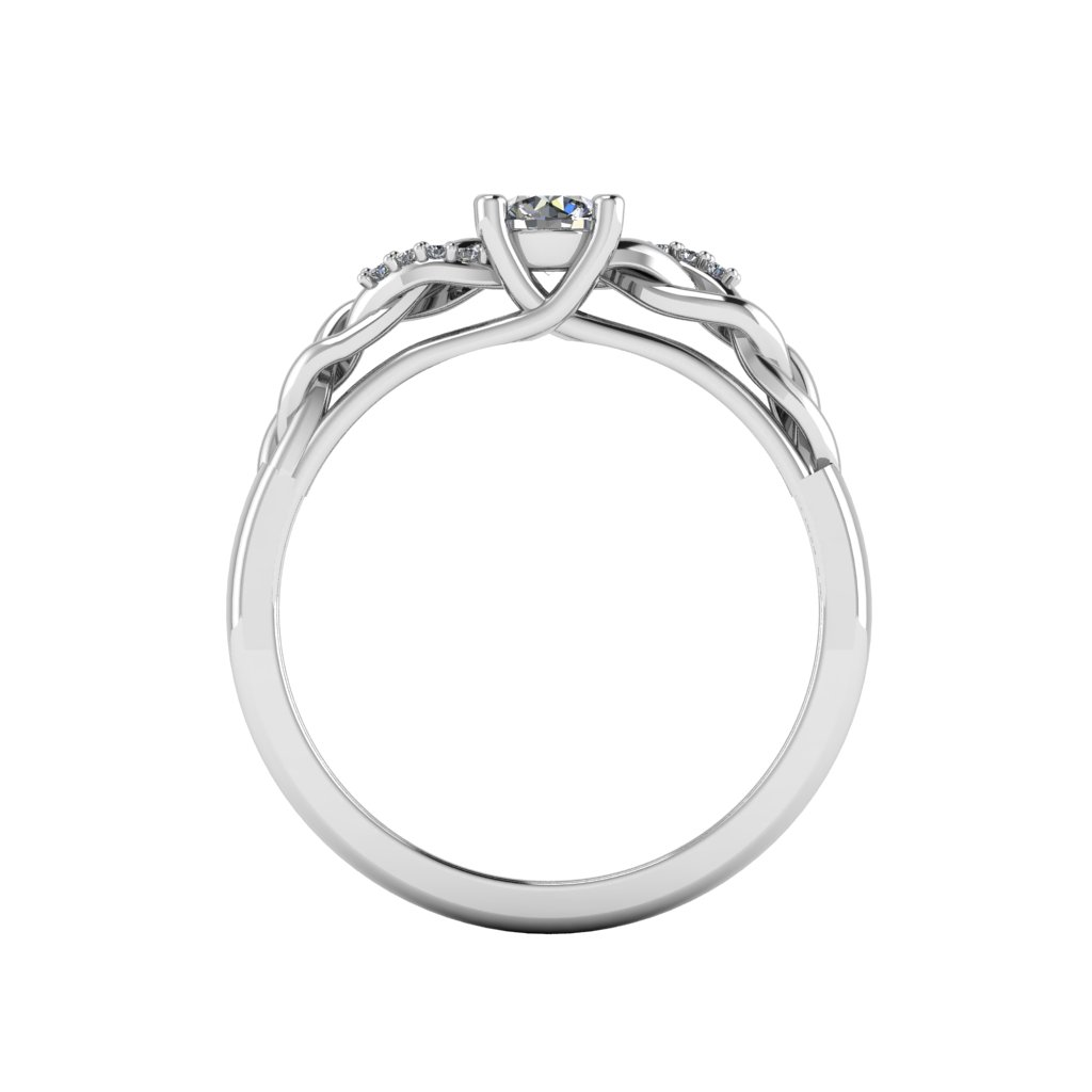 0.25 platted ring White c