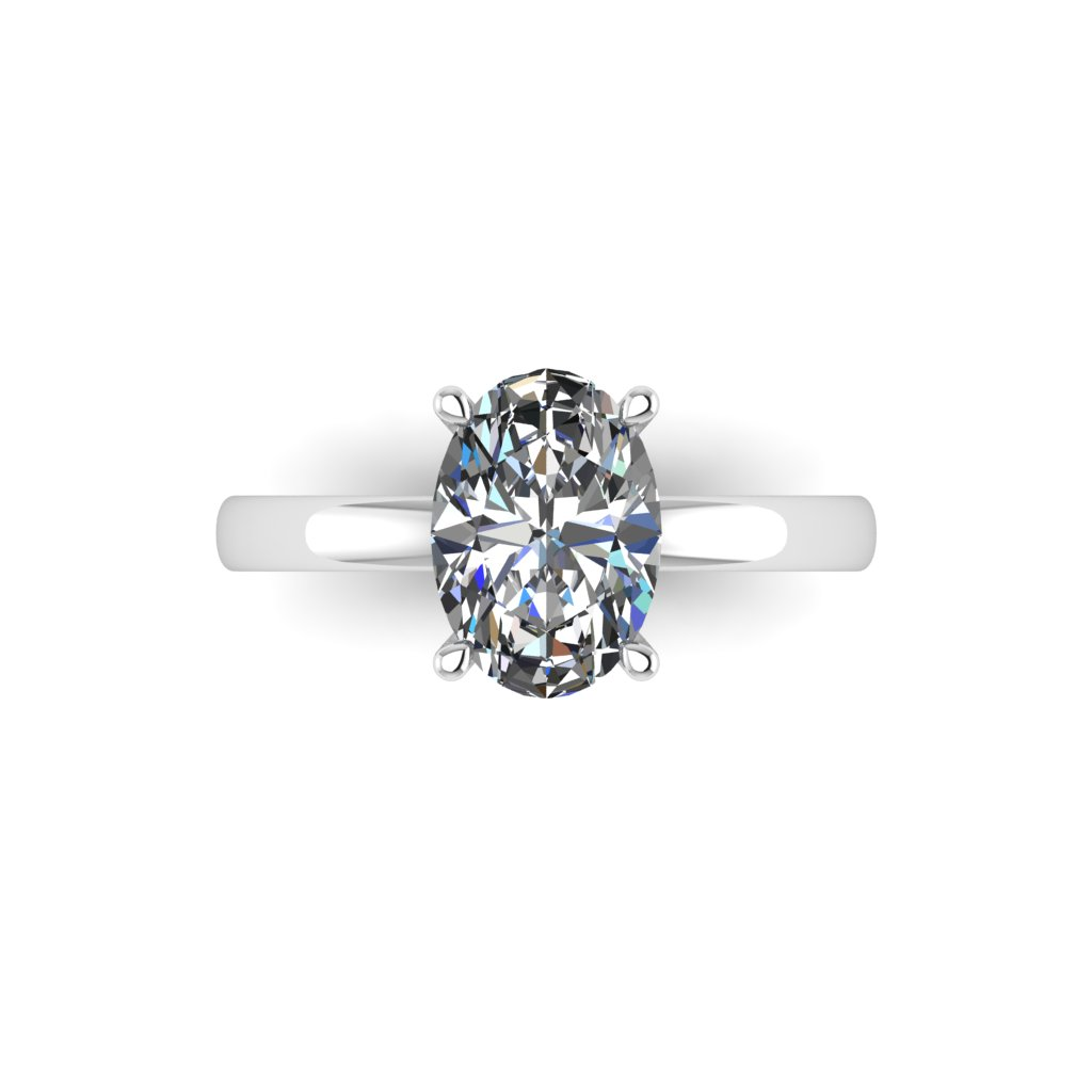 RL0569 2ct Oval Solitaire White d