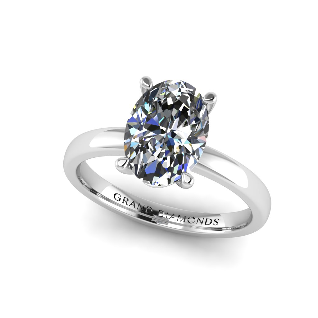 RL0569 2ct Oval Solitaire White
