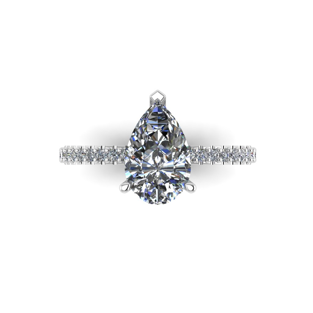 RL0587 2ct Grace Design Pear shape Size M White (4)