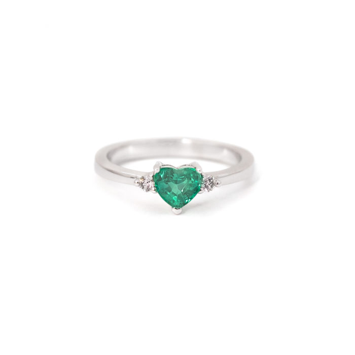 Emerald Heart Ring Grand Diamonds Cape Town