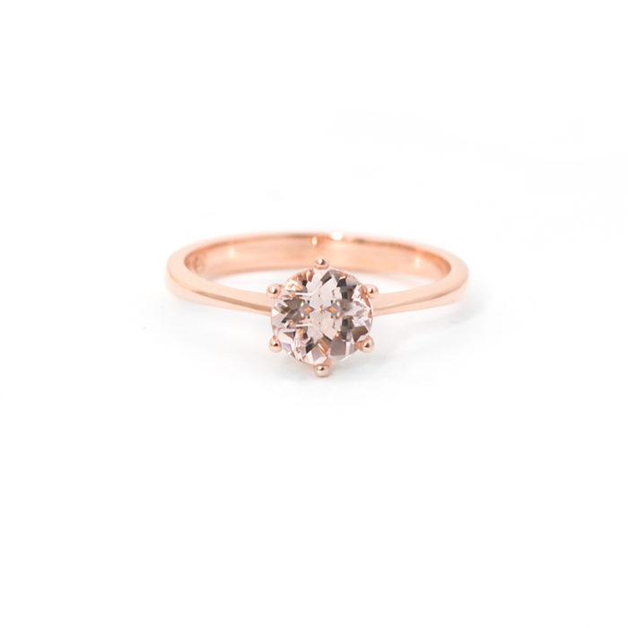 Morganite Solitaire Ring Grand Diamonds Cape Town