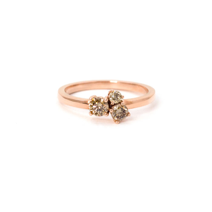Rose Gold Cognac Diamond Ring Grand Diamonds Cape Town