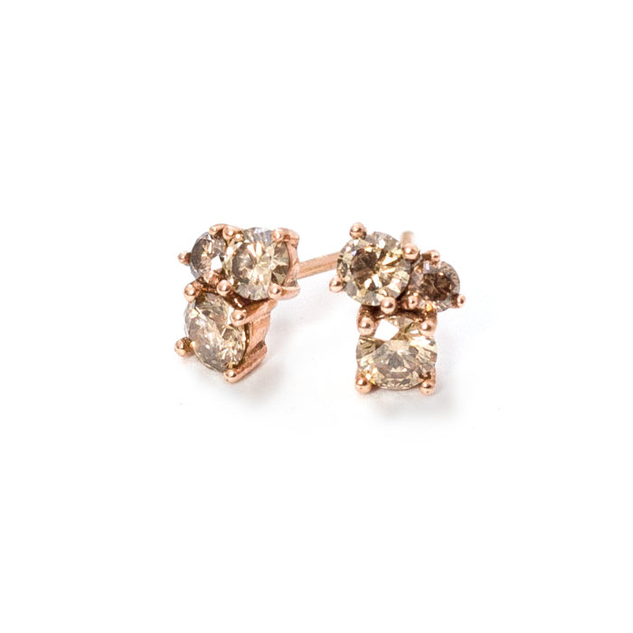 Rose Gold Diamond Earrings Grand Diamonds Cape Town