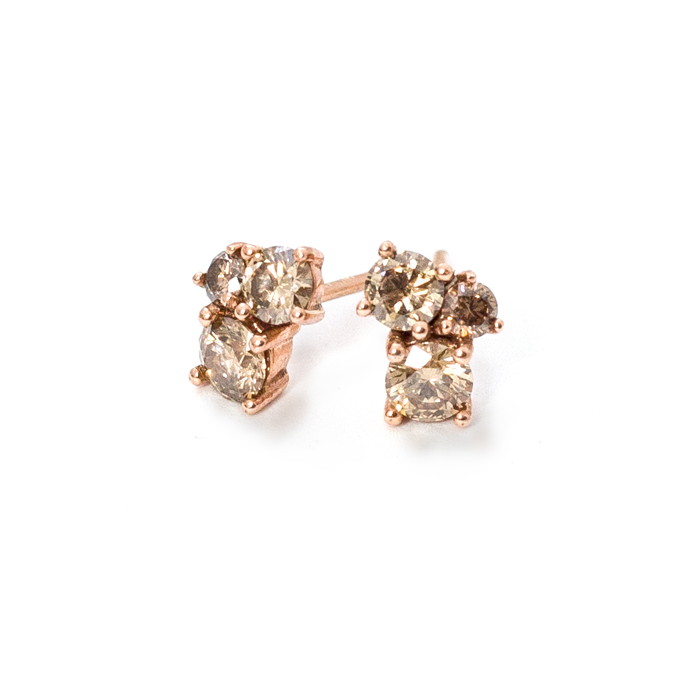 Rose Gold Diamond Earrings Grand Diamonds Cape Town