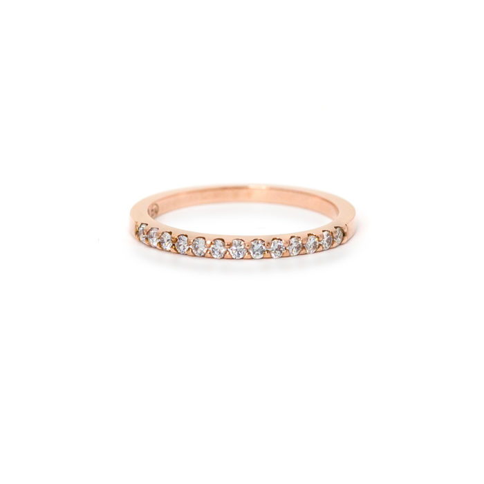 Rose Gold Diamond Eternity Ring Grand Diamonds Cape Town