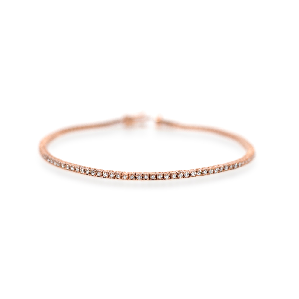 Rose Gold Diamond Tennis Bracelet Grand Diamonds Cape Town