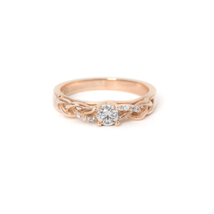 Rose Gold Diamond Twist Ring Grand Diamonds Cape Town
