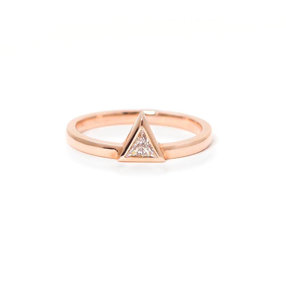 Rose Gold Trilliant Ring Grand Diamonds Cape Town