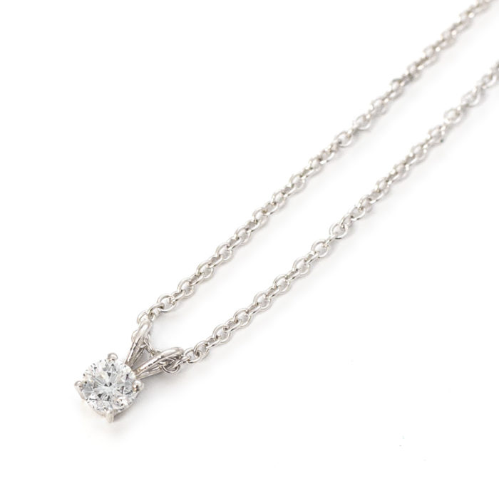 White Gold Diamond Solitaire Pendant Grand Diamonds Cape Town