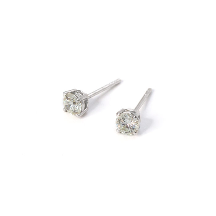 White Gold Diamond Stud Earrings Grand Diamonds Cape Town