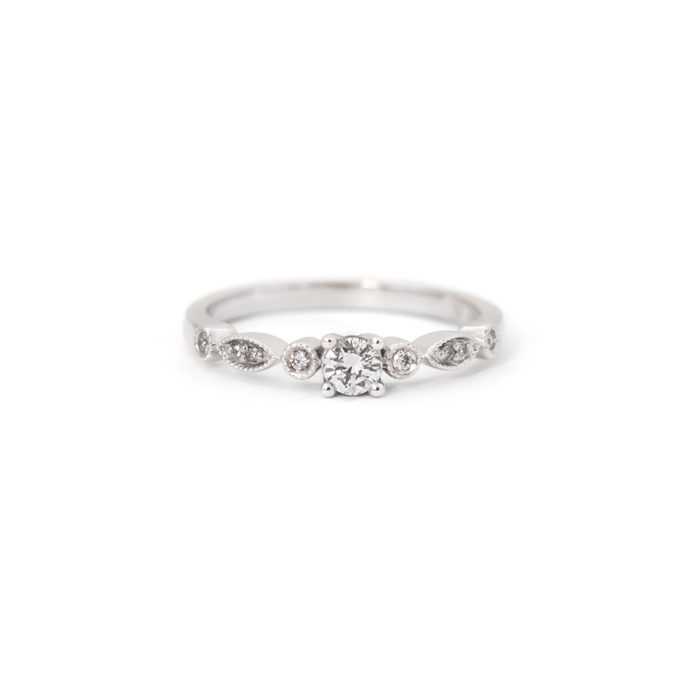 White Gold Vintage Diamond Ring Grand Diamonds Cape Town