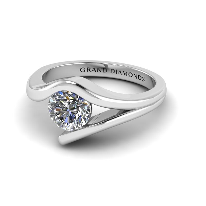 Round Solitaire Diamond Ring By Grand Diamonds