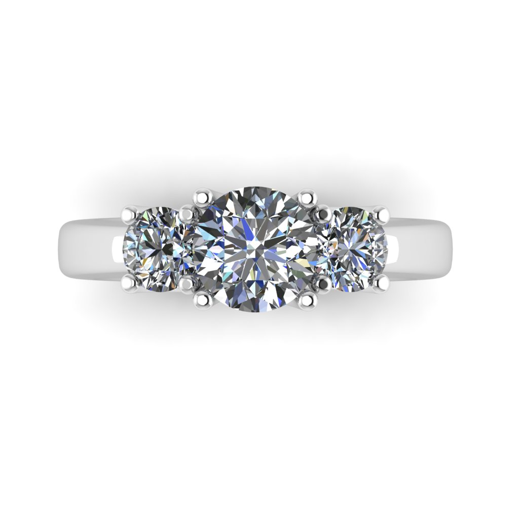3 Diamond Gallery Engagement Ring By Grand Diamonds