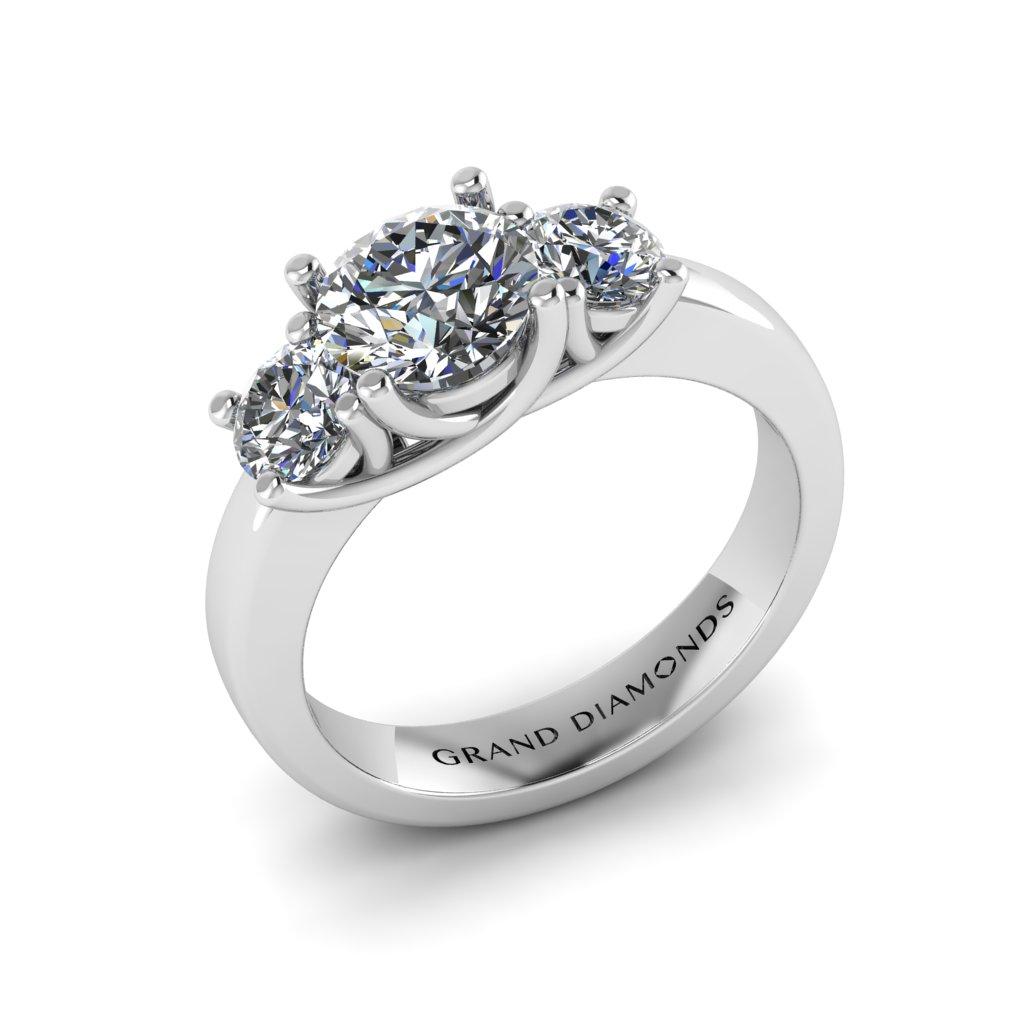 Trilogy Diamond Engagement Ring - Unique Engagement Ring | Trinity Engagement Ring - Three Stone Diamond Ring - Grand Diamonds