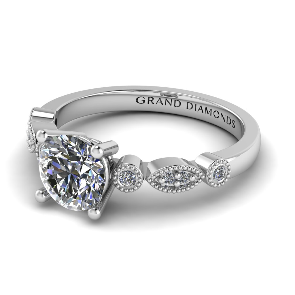 Vintage Marquee and Round Ring by Grand Diamonds