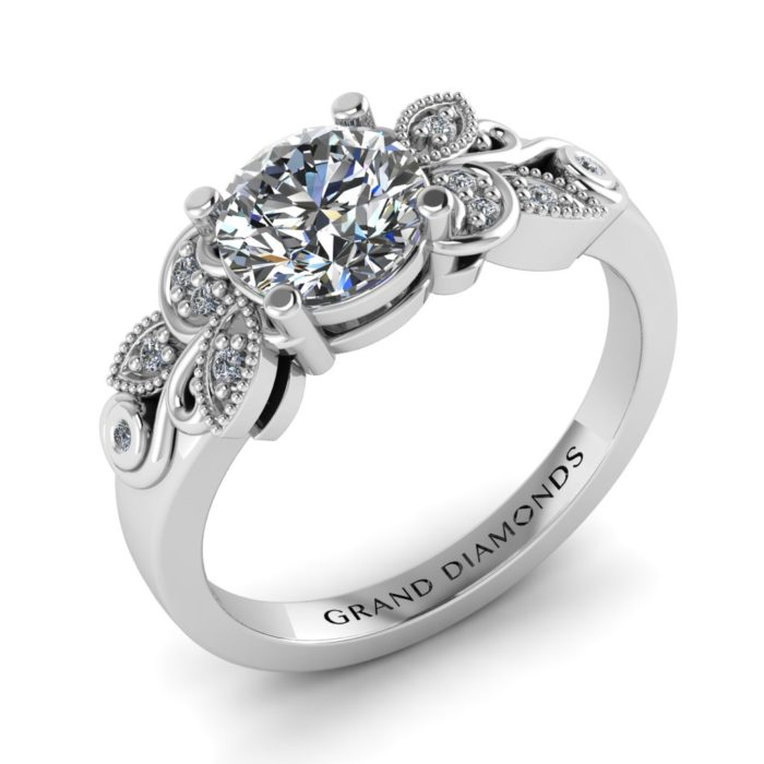 Blooming Filigree Vintage Style Ring By Grand Diamonds