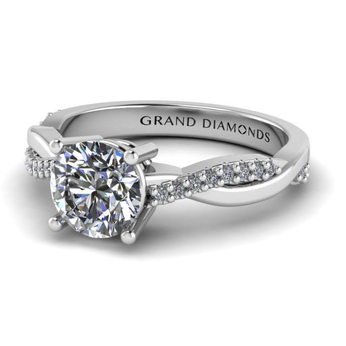 Crossover Pavé Diamond Ring by Grand Diamonds