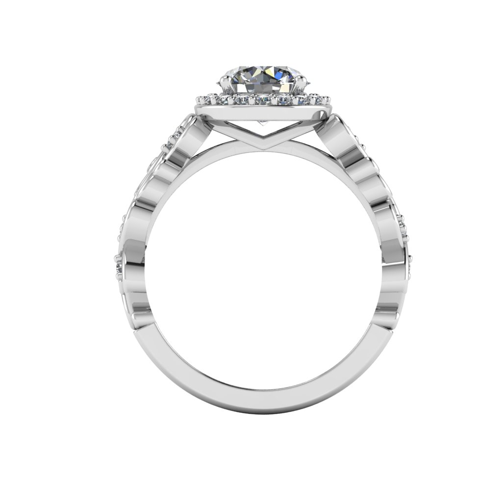 Halo with Vintage Filigree Shank By Grand Diamonds