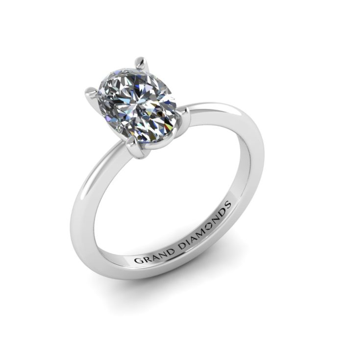 Oval Cut Traditional Solitaire By Grand Diamonds