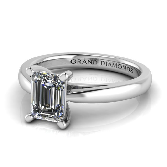 Emerald Cut Bow Tie Solitaire By Grand Diamonds