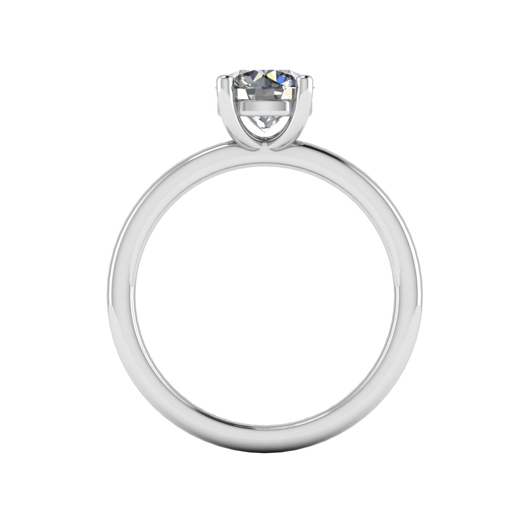 Four Claw Round Cut Solitaire By Grand Diamonds