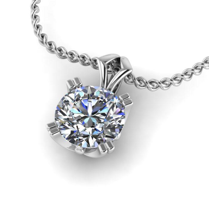 Leeto Double Claw Diamond Pendant by Grand Diamonds